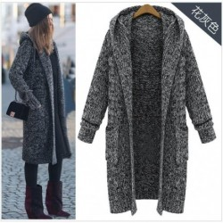 2020 Autumn & Winter New Arrival Europe And United States Sweater Plus Size Women's Long Hooded Cardigan Sweater Free Shipping