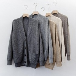 2020 autumn winter Casual Knit coat wool long cardigan