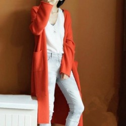2020 Fall Winter Thick V-neck Cashmere Women Sweater Dress Long Knitted Cardigan Sueter Mujer Invierno Plus Size