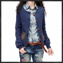 2020 Korean Clothes Fall Winter Thicken Cashmere Female Women Woman Vintage Sweater Cardigan Knitting Crop Top Long Sleeve wool