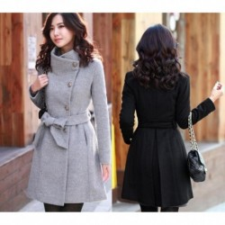 2020 Korean Women's Cashmere Coat Female Autumn Long Slim Cardigan Especially Women Winter Long Coats Thick Warm Feminine Coat