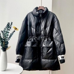 2020 Winter Glossy Bright 90% White Duck Down Jacket Women's Hooded Coat Female Thick Warm Slim Parkas Ladies Feather Down Coats