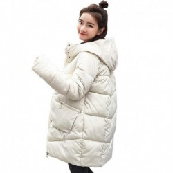 2020 winter parka mujer Korean style long jacket women thick solid plus size loose hooded warm coat femme casual giacca donna