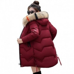 2020 winter women long jacket female thick coat solid casual hooded with fur collar slin women's parkas plus size kurtka damska