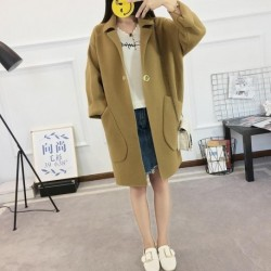 2020New Autumn Winter Cardigan Female Woolen Women Long Thick Warm Casual CardigansWomen Long Casual Knitted Sweater Coats