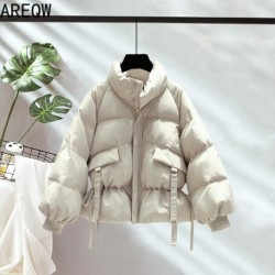 8 Solid Colors Cotton Parkas Women's Outwear Korean Style Autumn Winter Oversized Coats Jacket 2020 New Women's Clothing