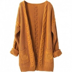 Cashmere Sweater Women Wool Fall Winter Thick Warm Soft Knit Cable Vintage Oversized Long Cardigan Women Long Winter Sweater