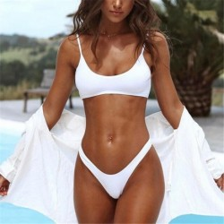 2018 Women Bikini Set Brazilian Push Up Padded Sexy Swimwear Low Waist Newest Monokini Swimsuit Female White/Black Bathing Suits