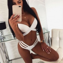 2019 Fashion Women Swimsuit Sexy High Waist Bikini Set Push up Swimsuit High waist Bandage Swimwear Bathing Suit Beachwear