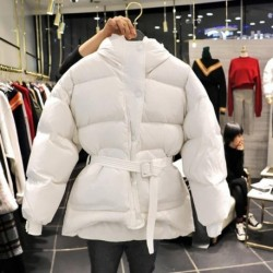 2020 Autumn Winter Thick Women Jacket Cotton-padded Clothes Loose Female Coat  Parka Plus Size Coats  Snow Wear Outerwear