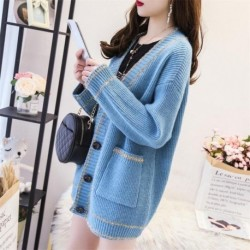 2020 Coat Female Sweater In The Long Section Of Autumn And Winter Thick Korean Version Of The Loose College Style Knit Cardigan
