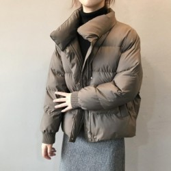 2020 Winter Jacket Women Streetwear Polyester Zipper Padded Coat Korean Style Mujer Parkas Autumn Jaqueta Feminina