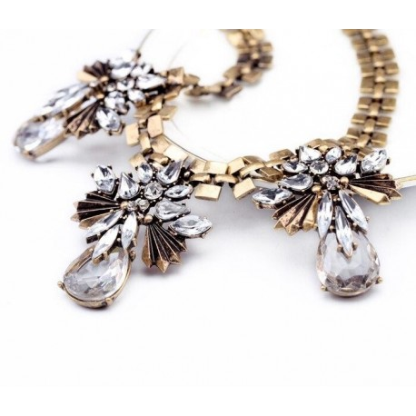 Gold Color Statement Necklace Indian Jewelry Wholesale Accessory