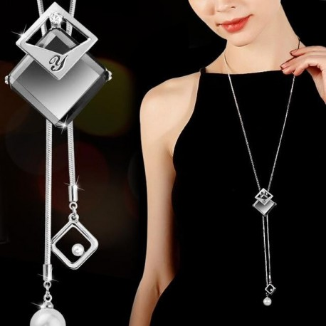 Gray Crystal Choker Collier Femme Statement Necklaces & Pendants Accessories