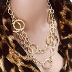 Layered Maxi Statement Large Aluminium Chain Collares Women Jewelry