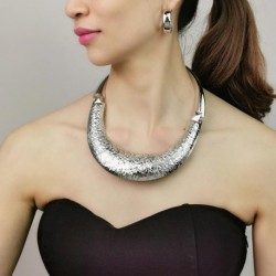 Metal Statement Necklaces For Women Punk Jewelry Big