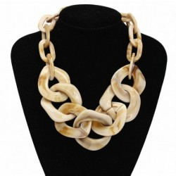 Necklace Multi Color For Women Trendy Gold Chain Statement Necklace Accessories Jewelry