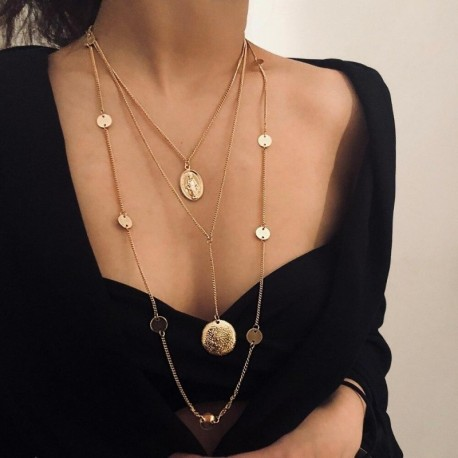 Necklace Multilayer Boho Style Chains Statement Necklaces Summer Beach Jewelry
