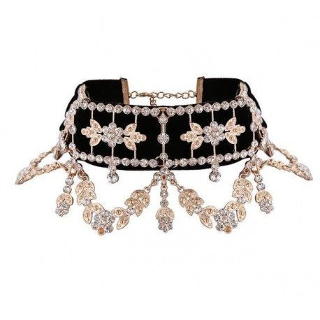 Necklace Velvet Statement Necklace for Women Collares Chocker Jewelry Party Gift