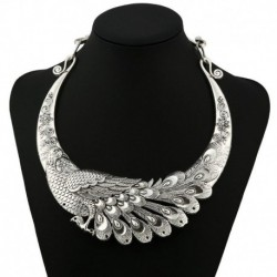 Necklace Vintage Peacock Chinese Element Maxi Necklace Statement Collar Necklace