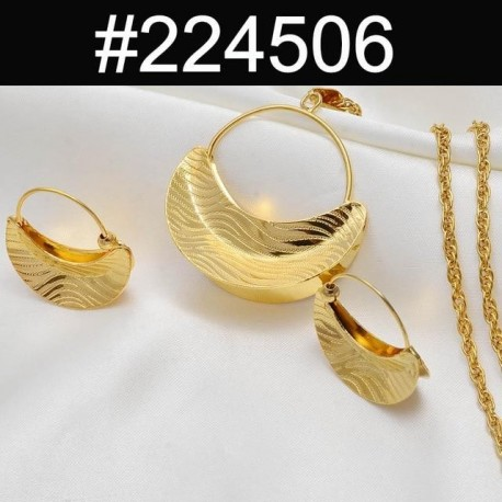 Necklaces Earrings For Women Girls Gold Color