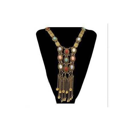Necklaces Long Tassel Pendant Choker Necklace Women Ethnic Jewelry