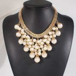 Statement Collar Chokers Necklaces Gold Color Chunky Chains Wedding Jewelry