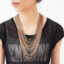 Women Charm Accessories Statement Necklaces Maxi Jewelry Collar Choker