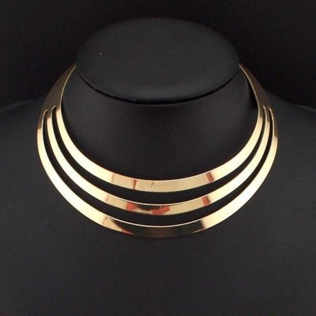 Women Charm Jewelry Neck Fit Collar Alloy Choker Necklace