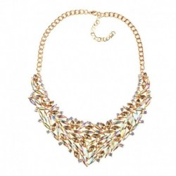 Women Luxury Crystal Chokers Necklaces Maxi Collar Torque Accessories