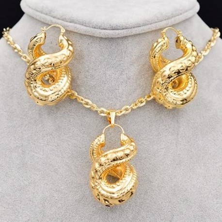 Women's Copper Cross Number Eight Trendy New Arrivals Jewelry Sets For Party