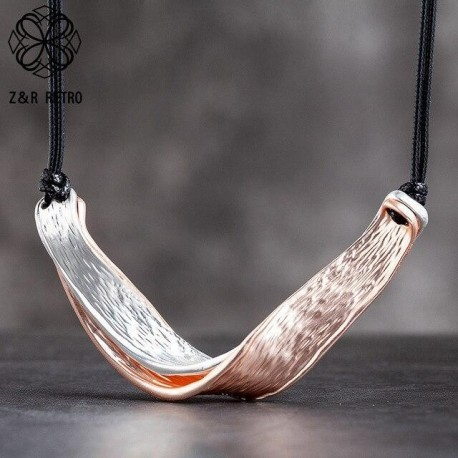 Women's Trendy Neck Chokers Twisted Necklaces Jewelry
