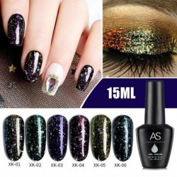 6 Colors 15ML Phototherapy Glue Quick Building UV LED Gel Glitter Lacquer Nail Art
