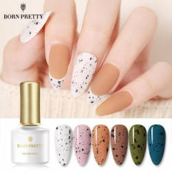 BORN PRETTY Nail Gel 6ml Eggshell Gel Nail Polish Transparent Gel & Special Black Material Nail Gel With Any Color Base