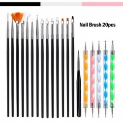 Gel polish nail Brush For Manicure tool Set 3D Pen Gel Acrylic Brushes Liner Nails Accessoires decoration Brushes