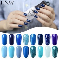 HNM 8ML Blue Color Series  Gel Nail Polish Hybrid Paint Lucky Varnishes Vernis Gel UV Polish Set Semi Permanent Manicure Lacquer