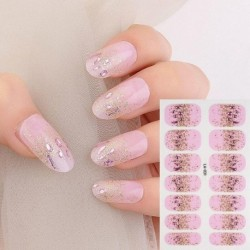 Japan Nail Stickers Adhesive Nail Wraps Gradient Glitter Nail Art Sticker Waterproof Manicure Full Wraps Tools Decor Wholesale