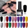 LEMOOC 8ml Basic Line Gel Nail Polish Color Gel Matte Effect Black White Red Blue Semi Permanent Gel Varnish Soak Off UV Gel