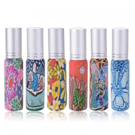 10ml Colorful Mini Empty Printed Glass Atomizer Bottle Perfume Mini Cosmetic Cosmetic Sprayer Makeup Container