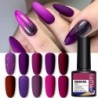 LEMOOC 8ml Matte Nail Gel Polish Purple Series Hybrid Varnish Nail Art Semi Permanent UV Gel Varnish Soak Off Matte Top Coat
