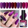 LEMOOC 8ml Purple Series Primerss Gel Varnish Soak Off UV LED Gel Nail Polish Base Coat Matte Top Coat Gel Polish Nail Art