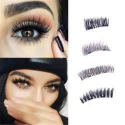 New Easy to Wear 3D Magnetic Eyelash False Eyelashes Double Magnet Full Strip Magnetic Lashes Soft Hair Reusable Fake Eye Lashes