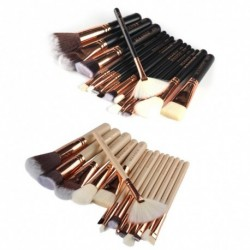 15-18pcs Professional Nylon fiber Rose Gold Makeup Brushes Set Kit Cosmetic Foundation Powder Brush Fan Blush Brush Tools