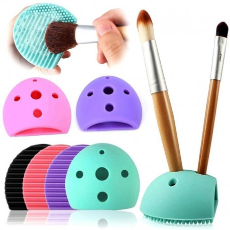 New Women Fashion Silicone Egg Cleaning Glove Makeup Washing Brush Drying Racks Scrubber Tool Cleaners Anne