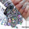 Nail Mermaid Glitter Flakes Sparkly Holographic Mix Laser Hexagon Colorful Sequins Spangles Polish Manicure Nails Art Decoration