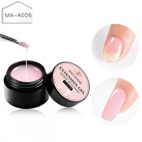 Quick Building Extension UV Gel  Nail Art Clear Camouflage Color Nail Tip Form Crystal UV Gel Top Base Coat Gel Nail Art