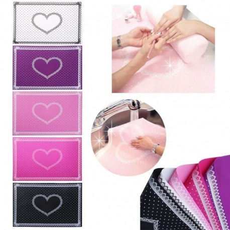 Silicone Lace Wave Point Foldable Nail Art Hand Rests Fashion Washable Manicure Tools Cute Hand Pad Mat 6 Types