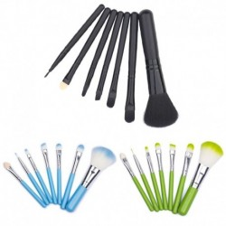 7 pcs Makeup Brushes Protable Cosmetic Brush Sets Fruit Green Make Up Brush Tools Suit H2