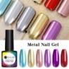 UR SUGAR 7.5ml Metallic Gel Nail Art Polish Mirror Effect Shining Design Long Lasting Soak Off LED UV Gel Nail Varnish 10 Colors