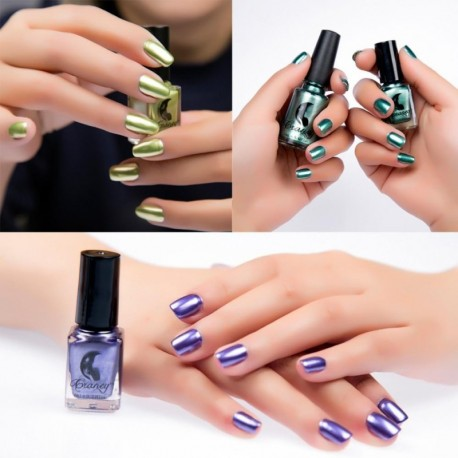 New Women's Fashion Mirror Nail Polish Plating Silver Paste Metal Color Stainless Steel Mirror Silver Nail Polish For Nail Art